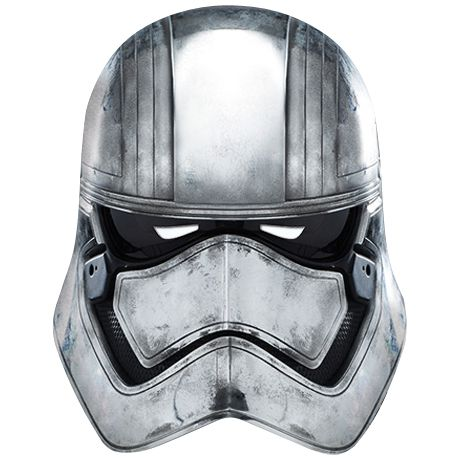Star Wars The Force Awakens Captain Phasma Card Mask