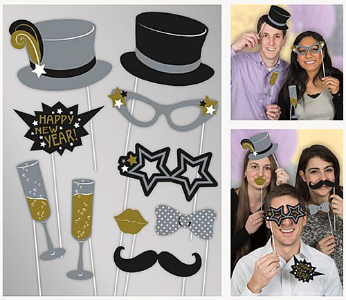 Jazzy New Year Photo Props - Pack of 10