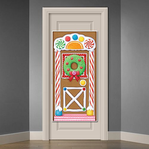 Gingerbread House Door Cover - 1.5m
