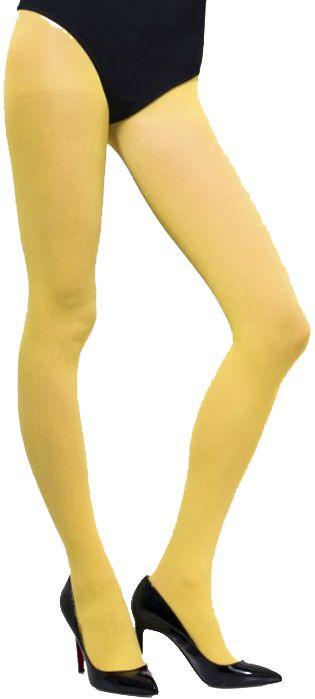 Opaque Yellow Tights