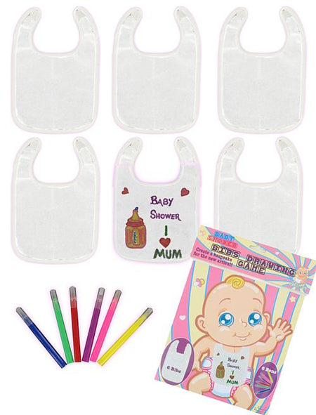 Baby Bibs Drawing Game - Pack of 6