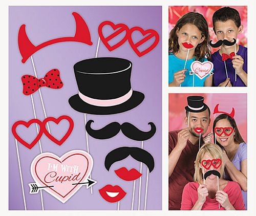 Valentine's Day Photo Props - Pack of 10