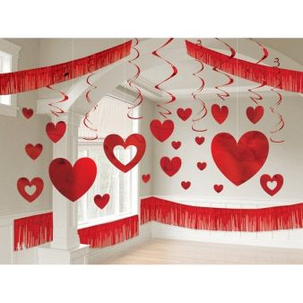Valentine's Day Foil Giant Room Kit