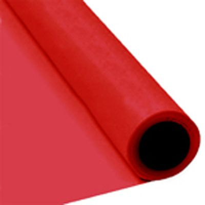 Red Paper Table Roll - 8m