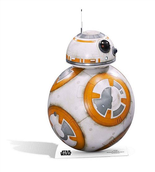 Star Wars The Force Awakens BB-8 Cardboard Cutout - 94cm