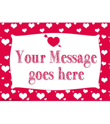 Valentines Personalised Poster A3