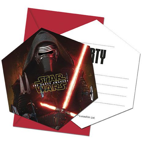 Star Wars Episode VII Invites and Envelopes - Pack of 6