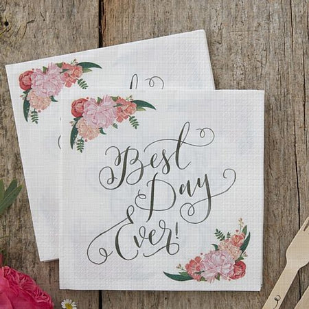 Click to view product details and reviews for Boho Best Day Ever Napkins 33cm Pack Of 20.
