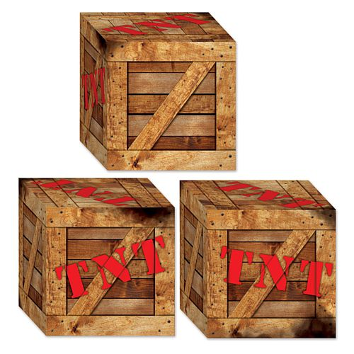 TNT Crate Favour Boxes - 8.3cm - Pack of 3