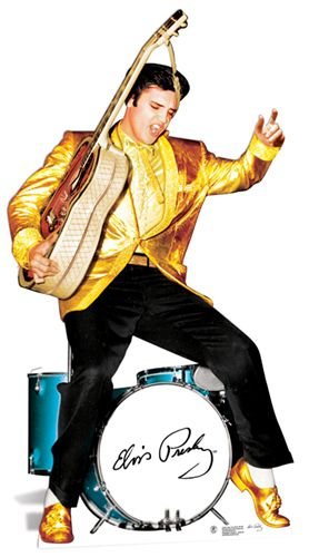 Elvis Presley Gold and Drums Cardboard Cutout - 1.85m