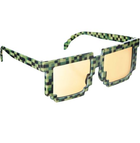 Green 8-Bit Pixelated Glasses