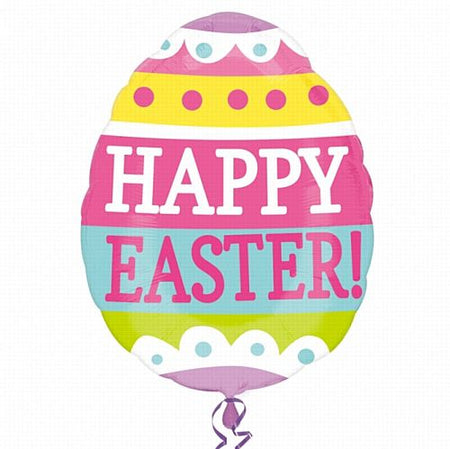 Click to view product details and reviews for Springy Easter Egg Supershape Foil Balloon 63cm.