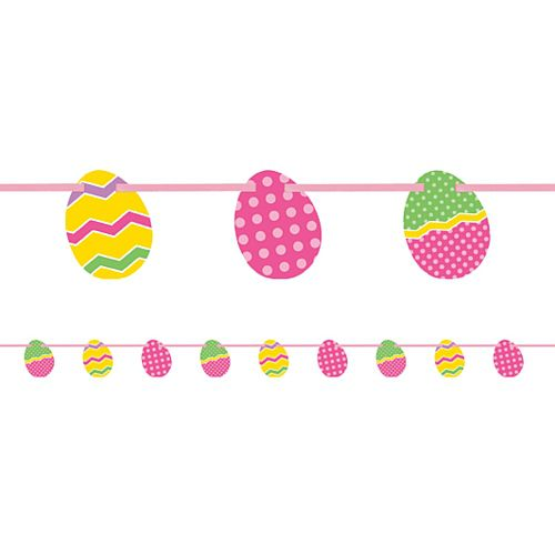 Easter Egg Cut Out Garland - 1.96m