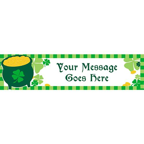 St Patricks Day Personalised Banner - 1.2m