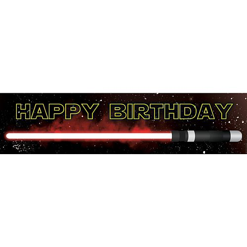 The Dark Side Star Wars Themed Happy Birthday Banner - 1.2m
