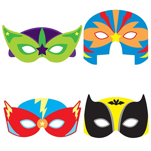Assorted Superhero Foam Masks - Each