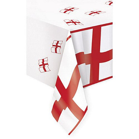 Click to view product details and reviews for England St Georges Flag Plastic Tablecloth 274m.