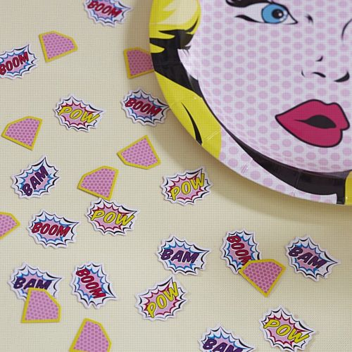 Pink Pop Art Table Confetti - 14g - Each