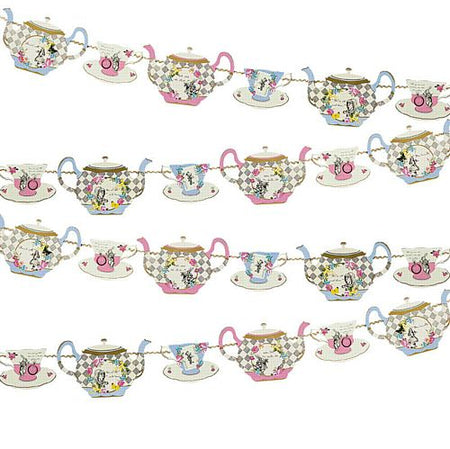 Truly Alice Teapot Bunting - 4m