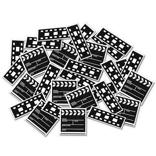 Clapperboard and Filmstrip Confetti - 14g