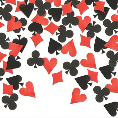 Card Suit Confetti Black and Red - 14g