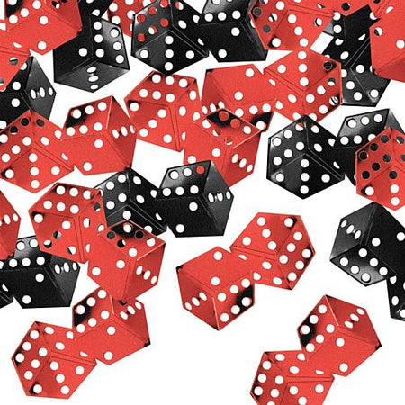 Click to view product details and reviews for Dice Confetti Black And Red 14g.