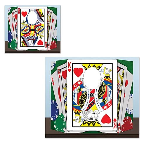 Royal Flush Stand-In Photo Prop - Revesable 2 Designs - 94cm