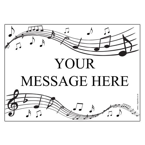 Musical Notes Personalised Poster- A3