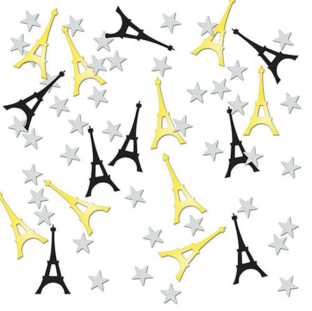 Eiffel Tower Confetti Black, Gold and Silver - 14g