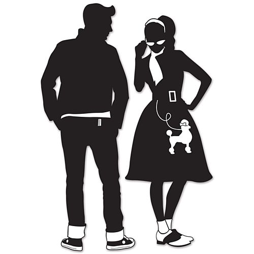 50's Silhouette Cutouts - 92.7cm - Pack of 2