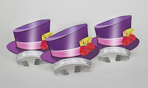 Mad Hatter Tea Party Top Hat Tiaras - Pack of 4