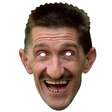 Barry Chuckle Card Mask