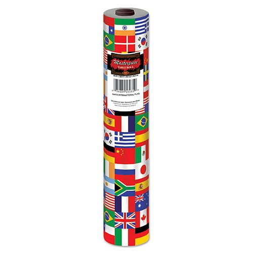 International Flag Plastic Table Roll - 30.48m