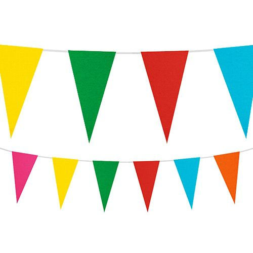 Multicolour Paper Bunting - 10m (32ft)