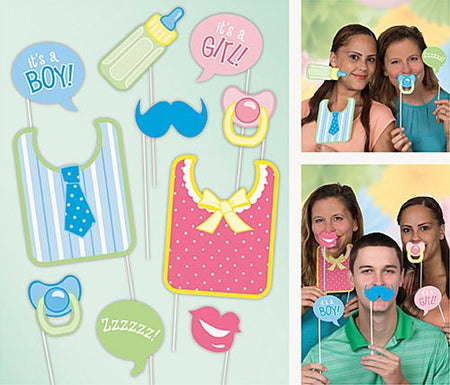 Baby Shower Photo Props - Pack of 10