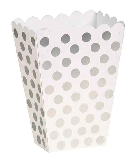Silver Dots Treat Boxes - Pack of 8