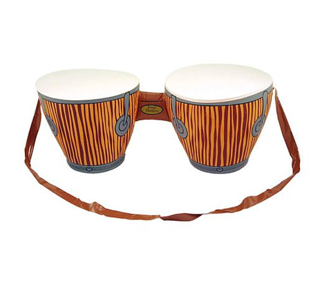 Inflatable Bongo Drums with Strap - 62cm