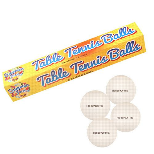 Ping Pong Balls - Pack of 6