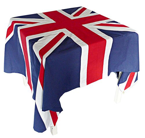 Union Jack Flag Fabric Tablecloth - 2.44m