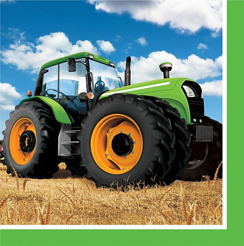 Tractor Time Luncheon Napkins - 33cm - Pack of 16