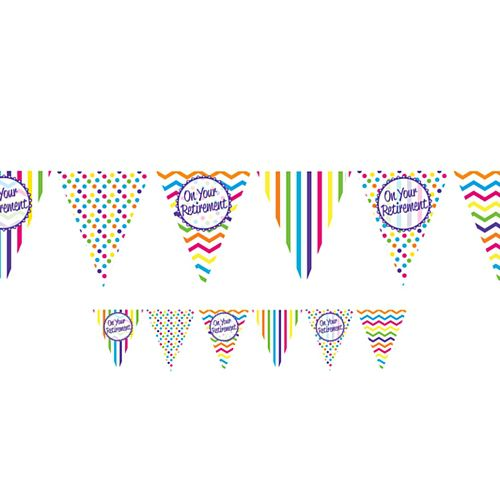 On Your Retirement Paper Flag Bunting - 3.7m