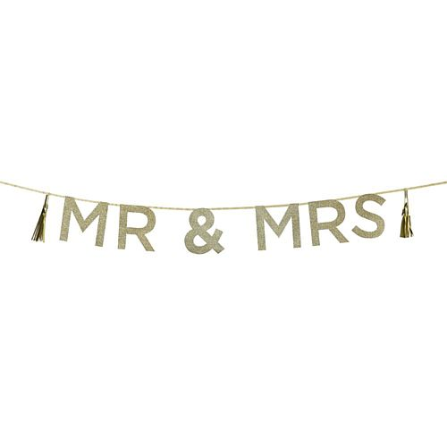 Say It With Glitter 'Mr & Mrs' Garland - 2m
