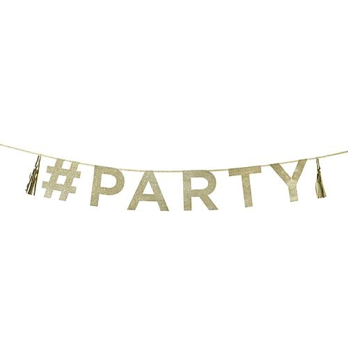 Say It With Glitter 'Party' Garland - 2m