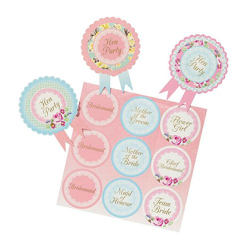 Truly Hen Badges - Pack of 6