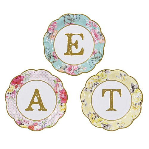 "Truly Scrumptious Small ""Eat"" Plates - 7"" - Pack of 12"
