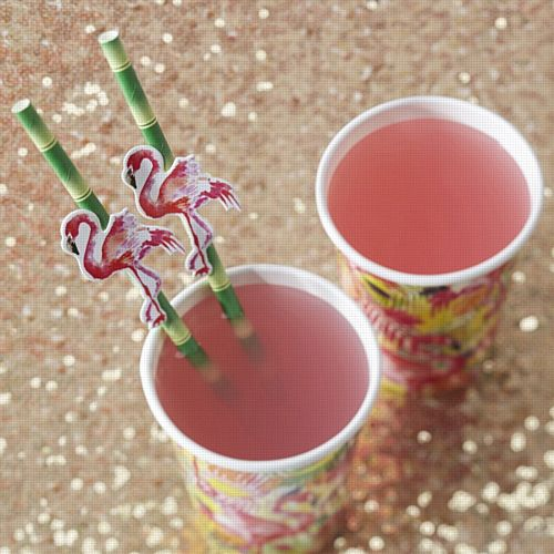 Flamingo Fun Paper Straws - Pack of 20