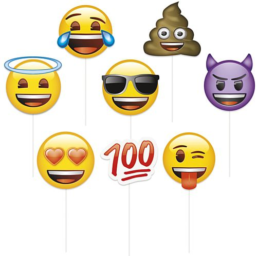Emoji Photo Props - Pack of 8