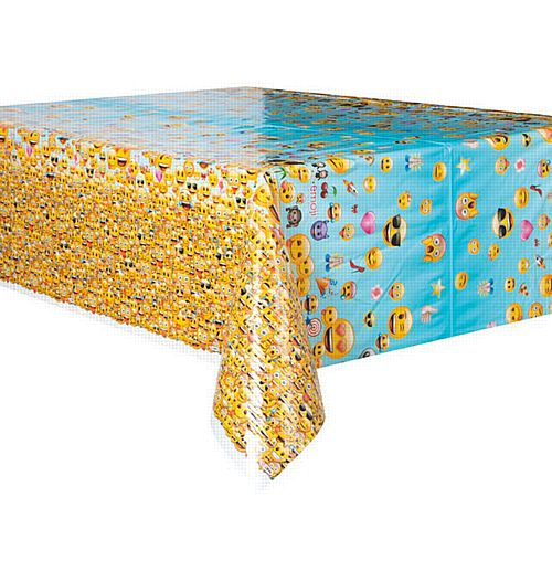 "Emoji Plastic Tablecloth - 84"" - Each"