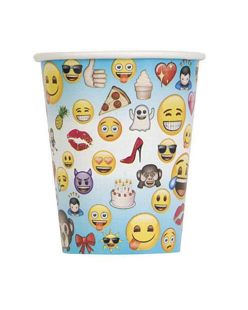Emoji Cups - 9Oz - Pack of 8