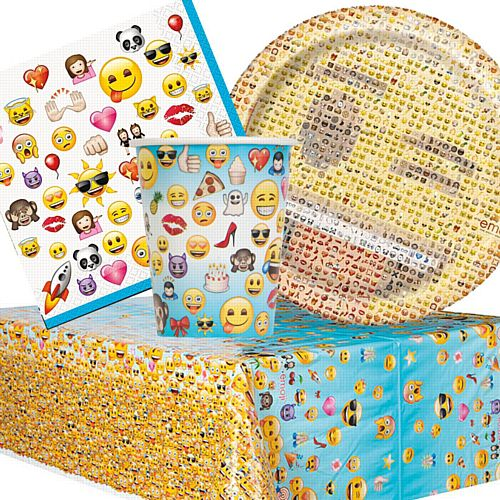 Emoji Tableware Party Pack - For 8